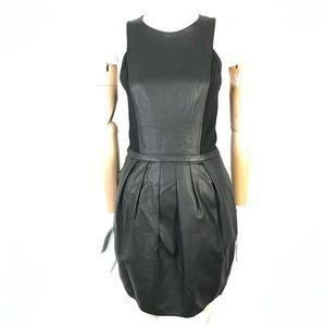 Armani Exchange faux leather dress